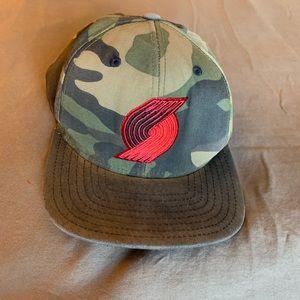 Adidas Portland Trailblazers Camo SnapBack Hat